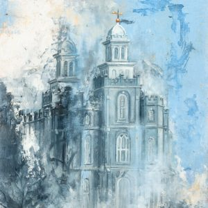 logan-temple-winter-cold-wax-oil-painting