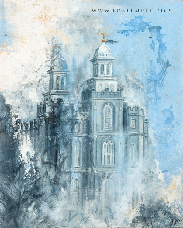 Logan Temple – Winter Painting
