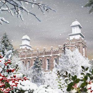 logan-temple-winter-scene-painting