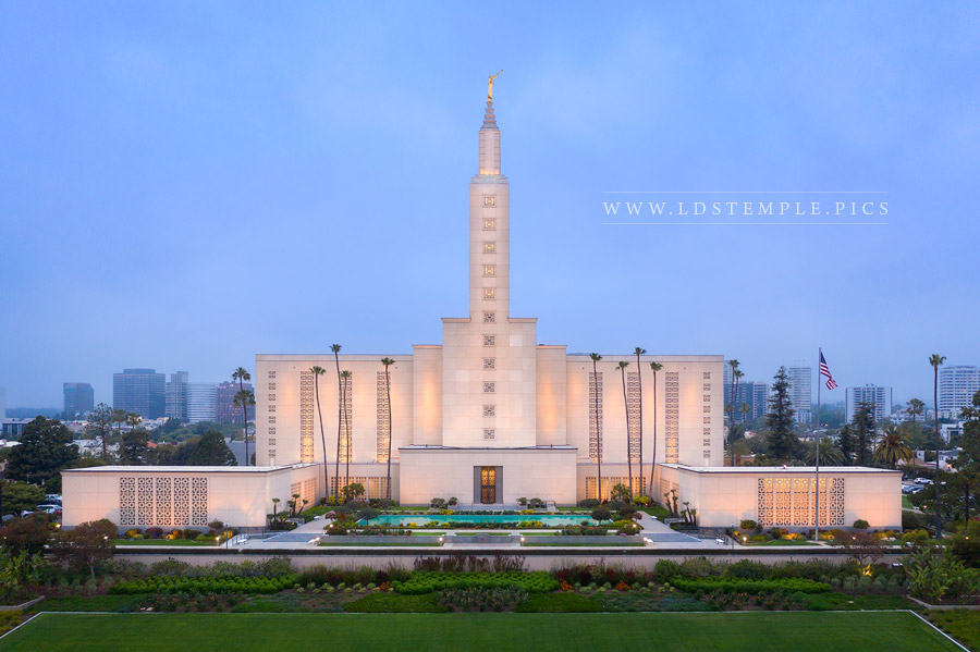 Los Angeles Temple – Aerial Morning