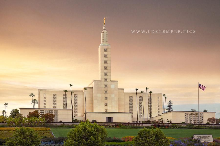 Los Angeles Temple – Golden Sunset