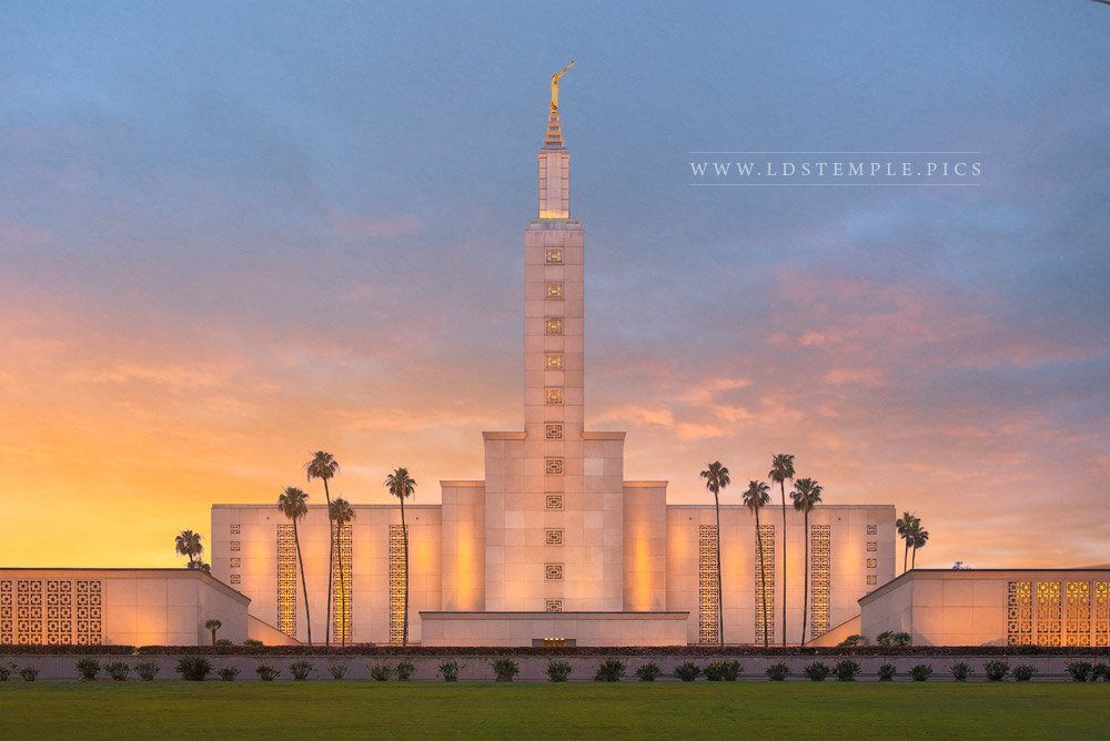 Los Angeles Temple – Sunset