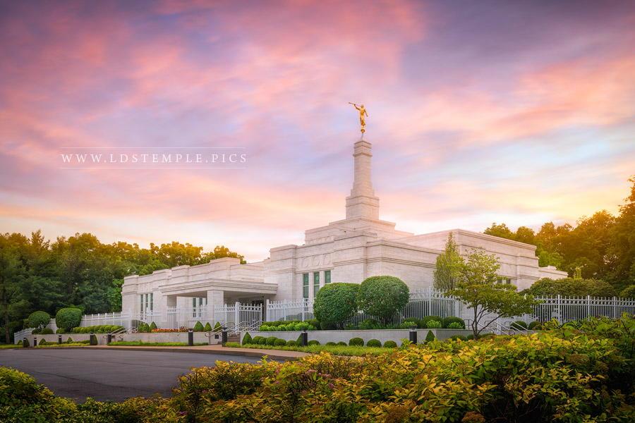 Louisville Kentucky Temple Sunset Print