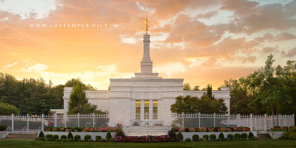 Louisville Temple Glory to the Highest Print