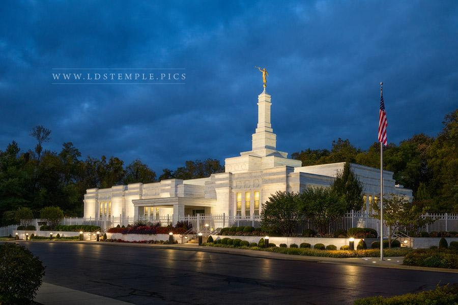 Louisville Temple Stormy Twilight Print