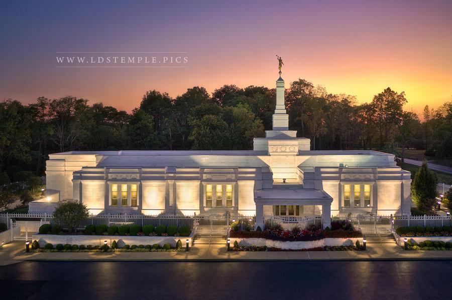 Louisville Temple – Sunset Glow