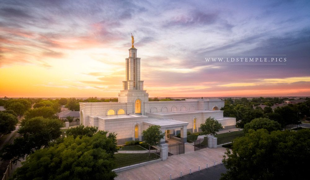 Lubbock Temple Sunset Aerial Lds Temple Pictures