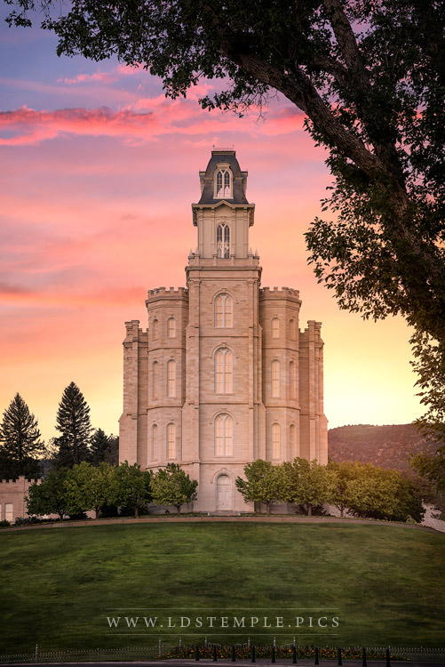 Manti Temple A Mighty Fortress Print
