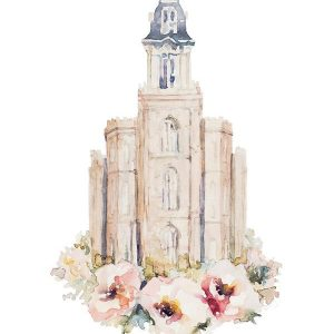 manti-temple-floral-watercolor-painting