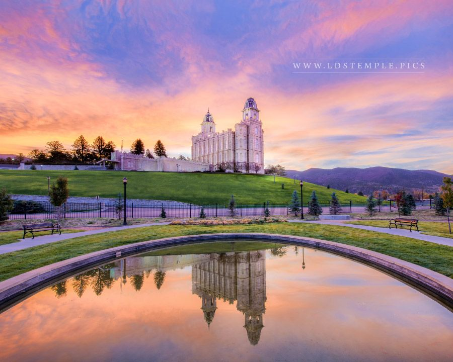 Reflecting Pool Waterproofing : Manti temple reflection pool lds pictures
