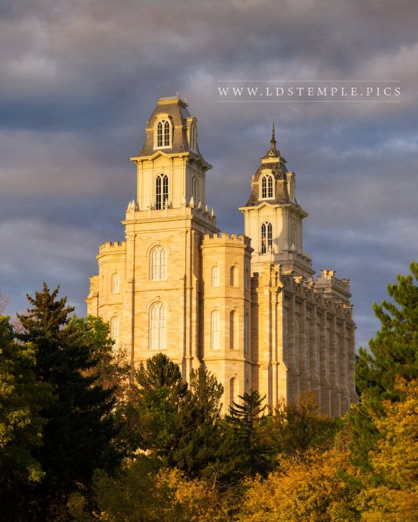 Manti Temple Stormy Sunset Print
