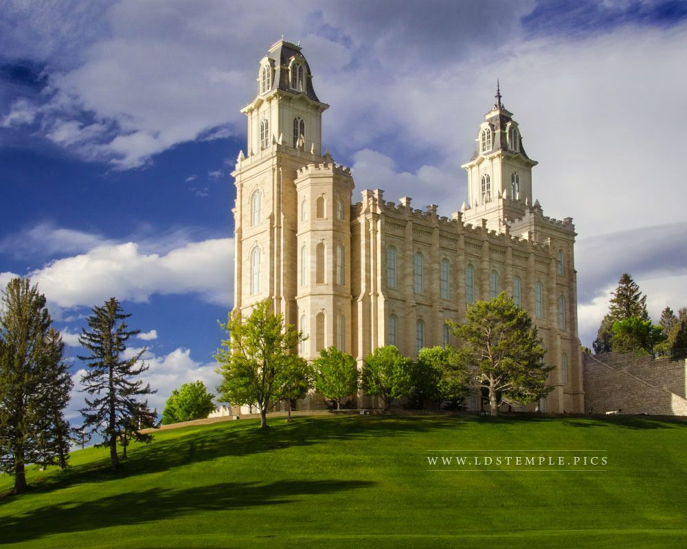 Manti Temple Evening Light Print