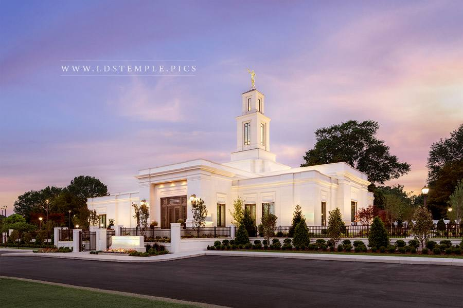Memphis Temple Spring Sunset Print