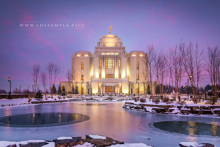 Meridian Temple Icy Reflections Print