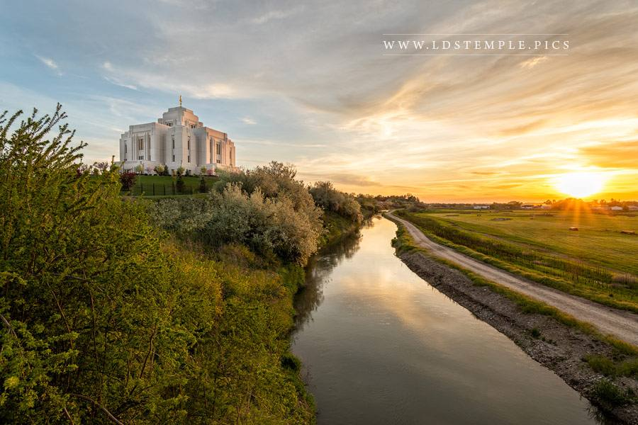 Meridian Temple River Reflections Print