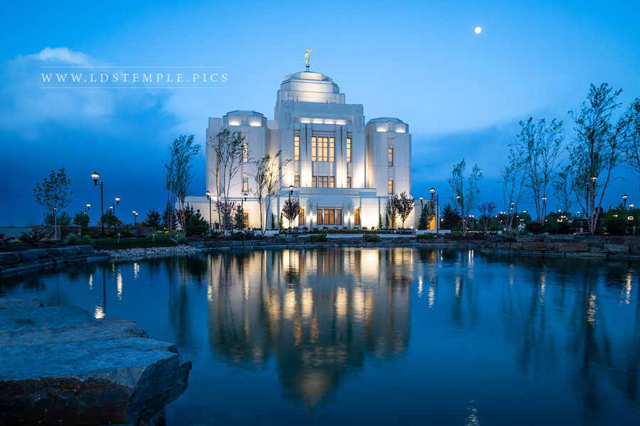 Meridian Temple Spring Reflections Print