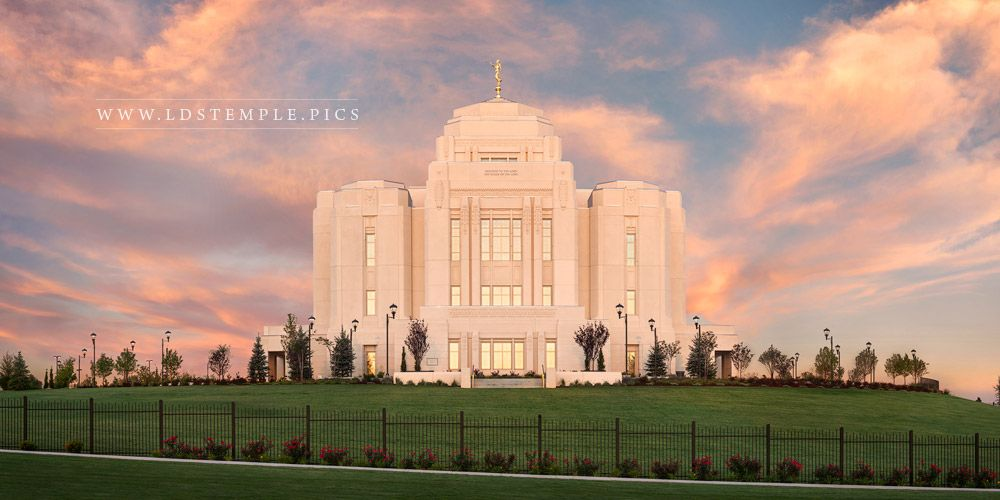 Meridian Temple Summer Sunrise Panoramic Print