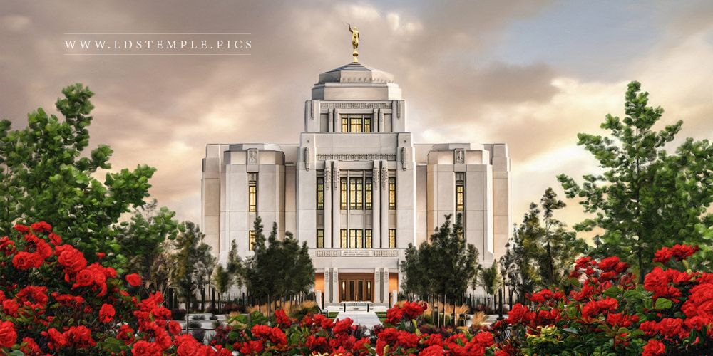 Meridian Temple Sunrise Painting Print