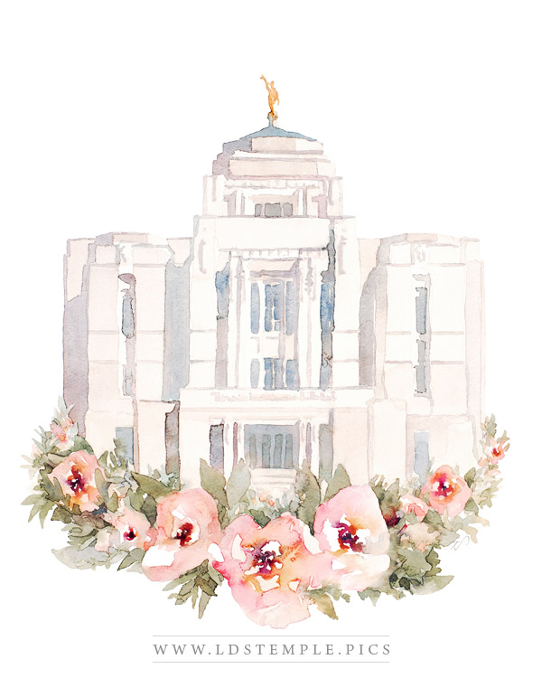Meridian Temple Watercolor Painting Print