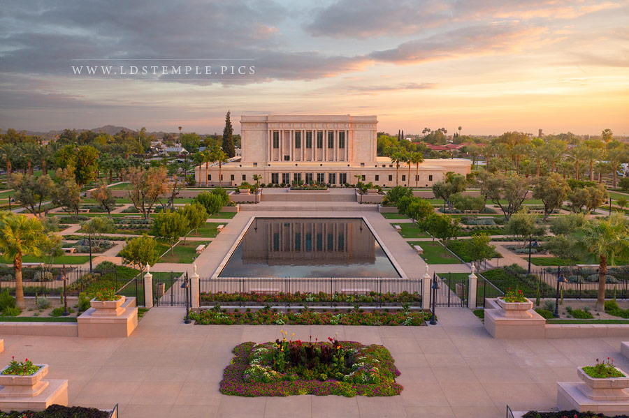 Mesa Temple – Aerial Sunset