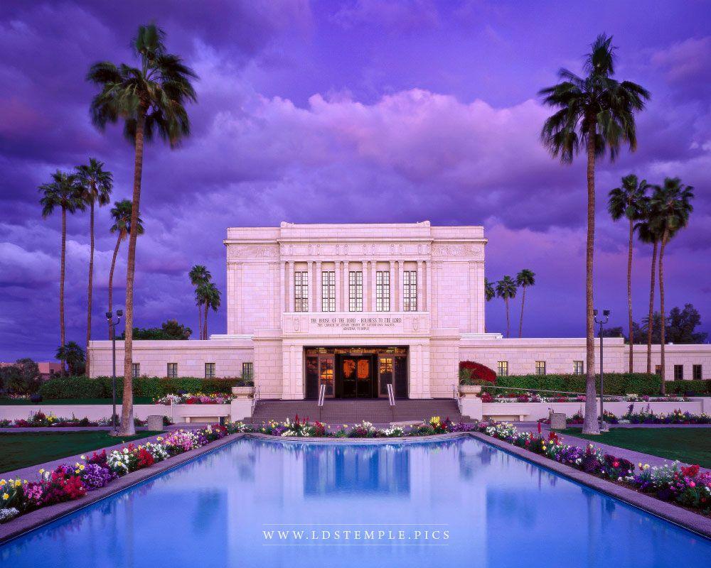 Mesa Temple Blue Stormy Skies Print