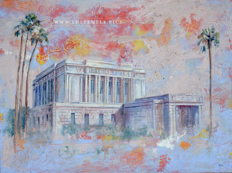 Mesa Temple Painting Print