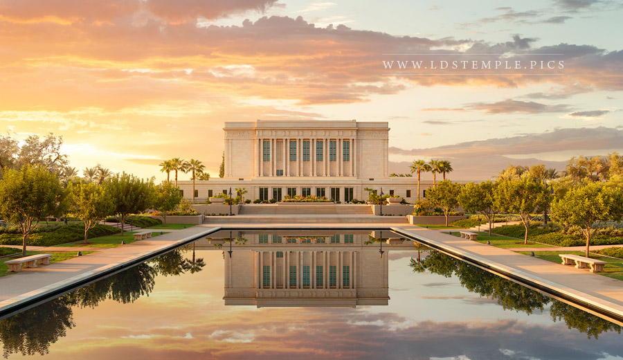 Mesa Temple Golden Sunrise Print