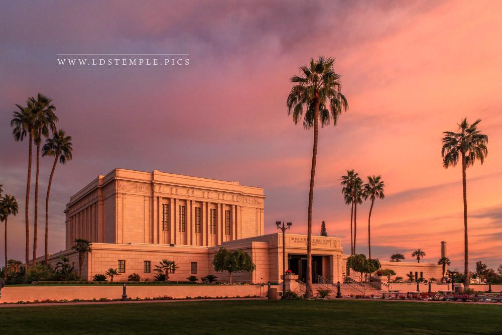 Mesa Temple Pastel Sunset Southeast Print