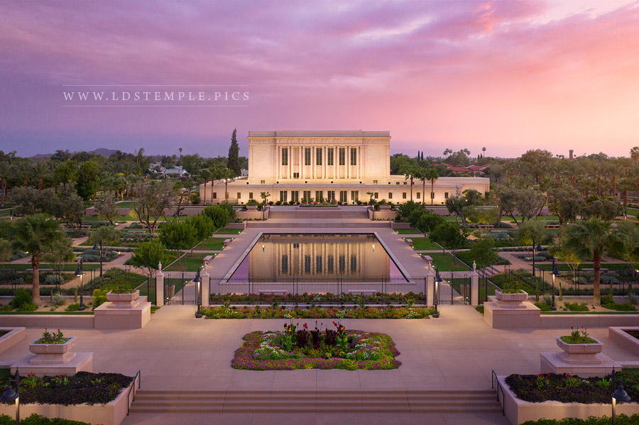 Mesa Temple – Pastel Sunset
