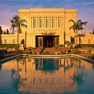 mesa-temple-reflecting-pool-sunset