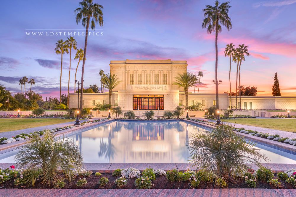 Mesa Temple Reflection Pool Print