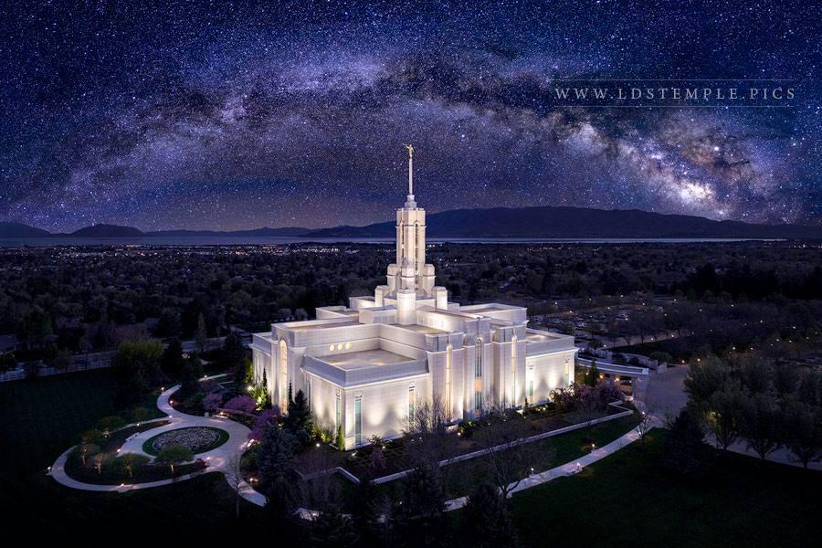 Mount Timpanogos Temple Eternal Creations Aerial Print