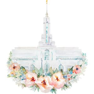 mount-timpanogos-temple-floral-watercolor-painting