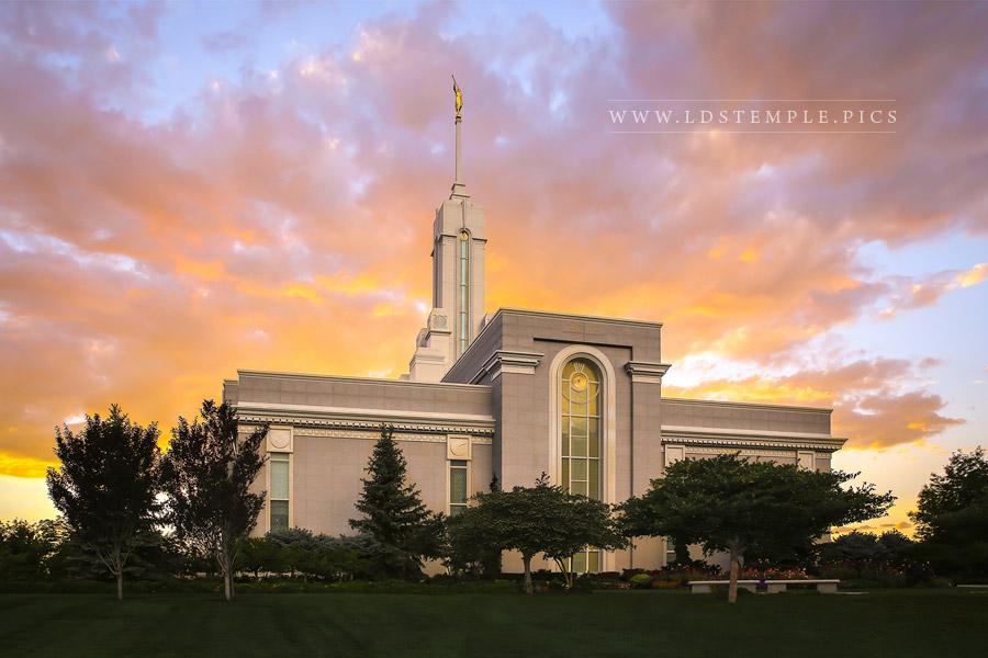 Mount Timpanogos Temple Glorious Sunset Print