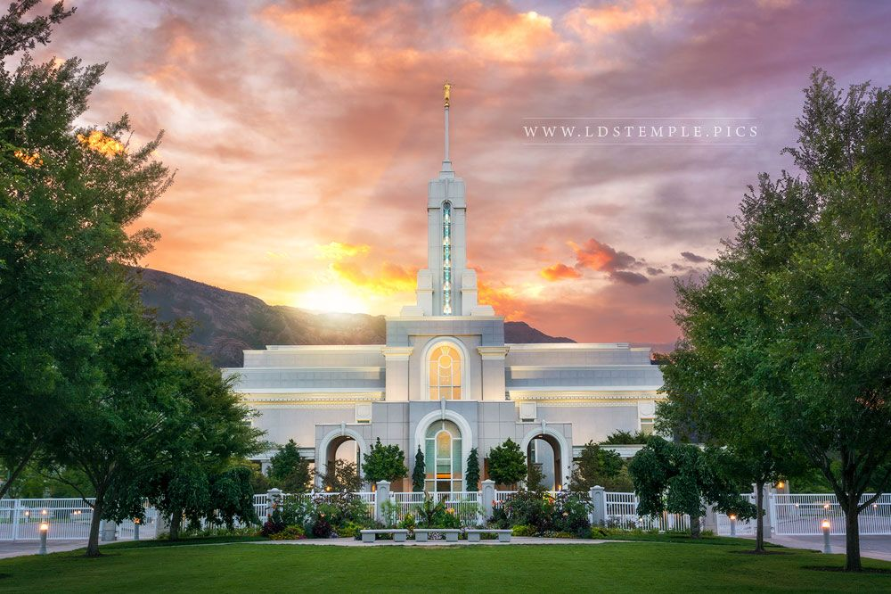 Mount Timpanogos Temple Morning Burst Print