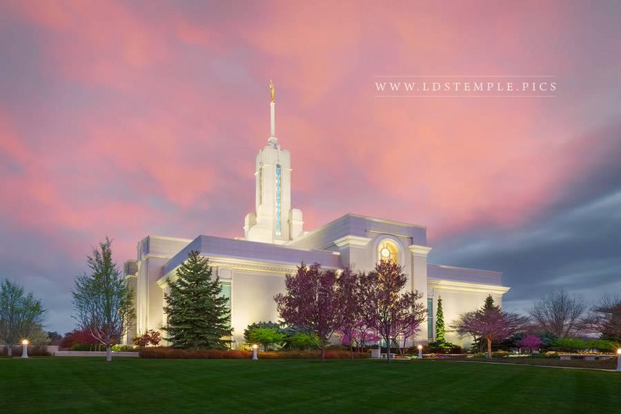 Mount Timpanogos Temple Pastel Sunrise Print