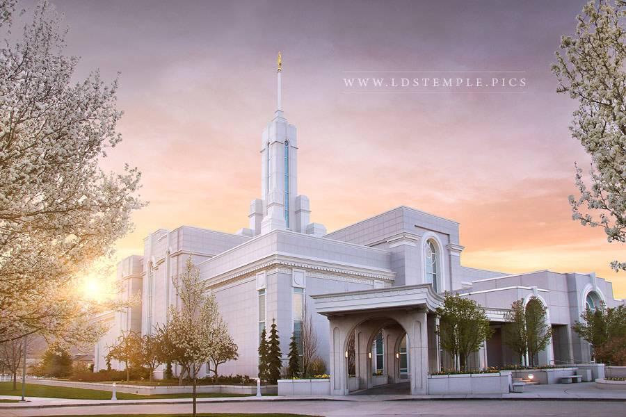 Mount Timpanogos Temple Spring Morning Print