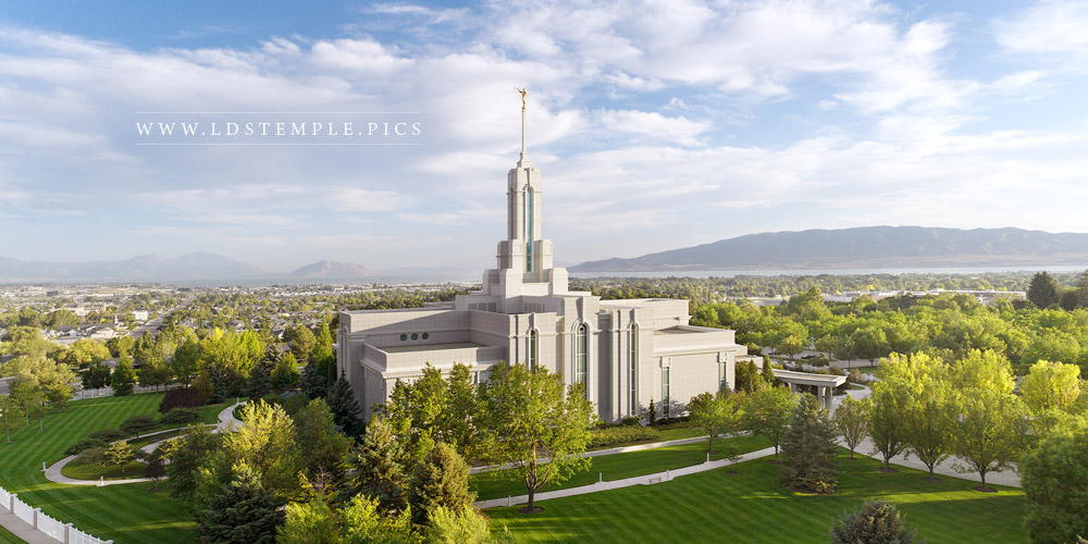 Mount Timpanogos Temple Summer Day Print