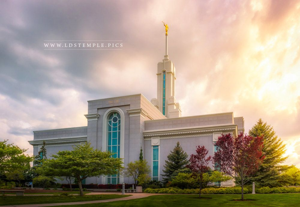 Mount Timpanogos Temple After The Storm Print