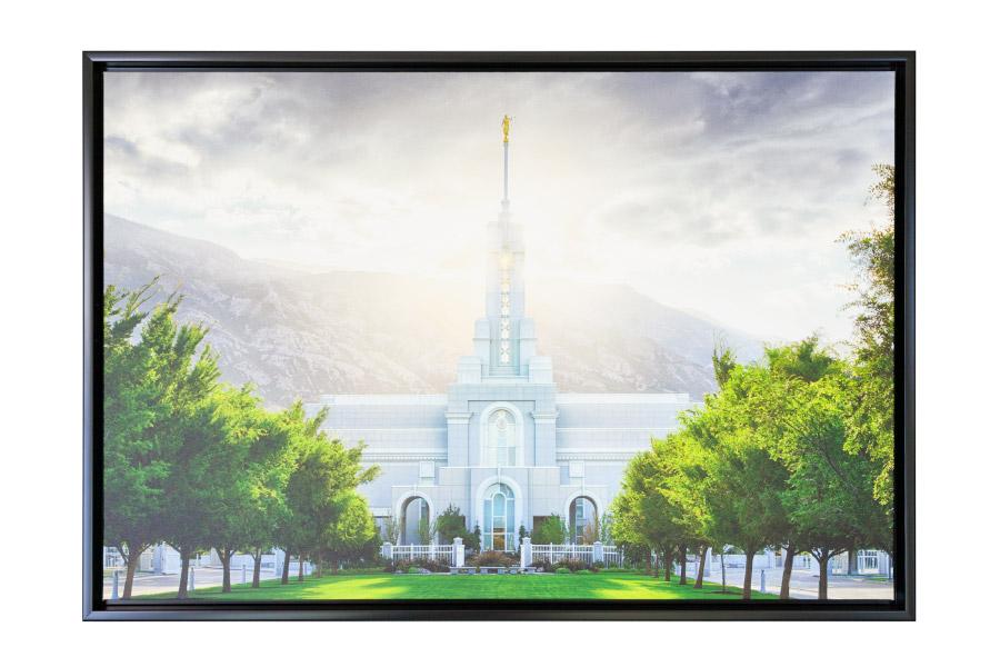 mt-timpanogos-temple-canvas-wrap-float-framed - LDS Temple Pictures