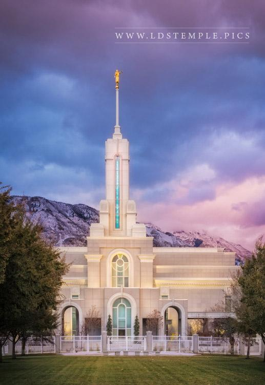 Mount Timpanogos Temple Sunset Print