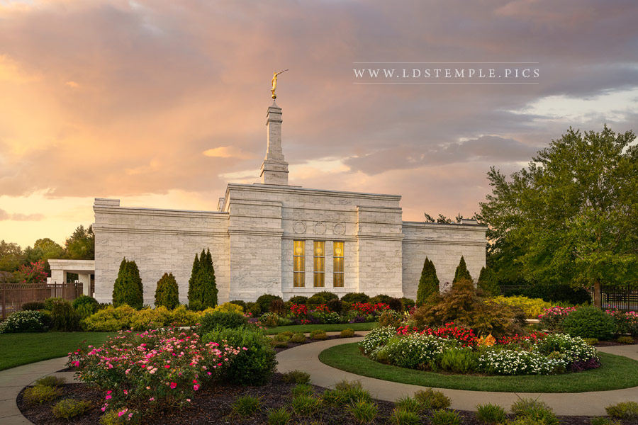 Nashville Temple Heavenly Light Print