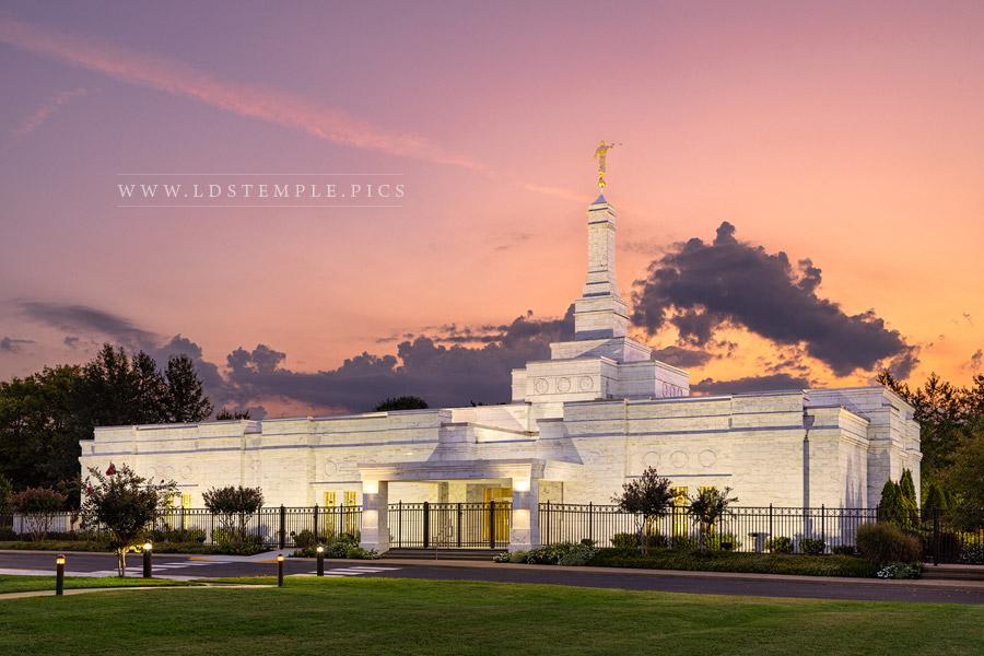 Nashville Temple Sunrise Glow Print