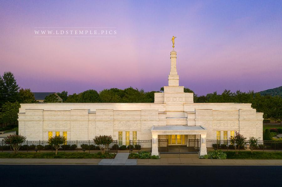 Nashville Temple Sunset Afterglow Print