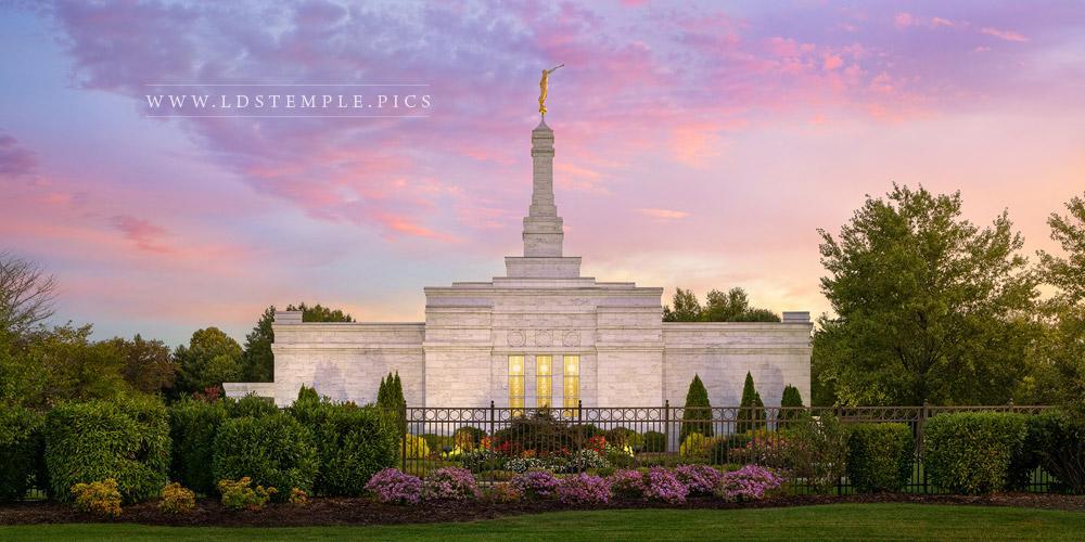 Nashville Temple The Morning Breaks Print