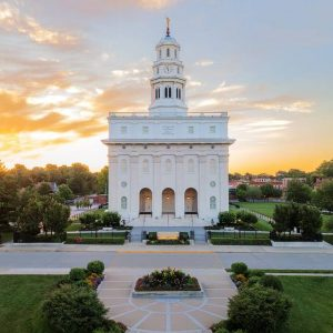 nauvoo-temple-aerial-sunset-west