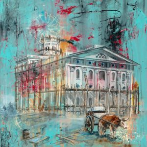 nauvoo-temple-being-built-cold-wax-oil-painting