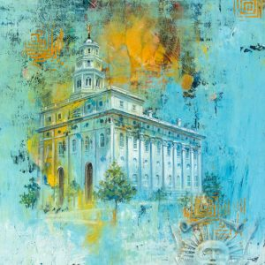 nauvoo-temple-cold-wax-oil-painting