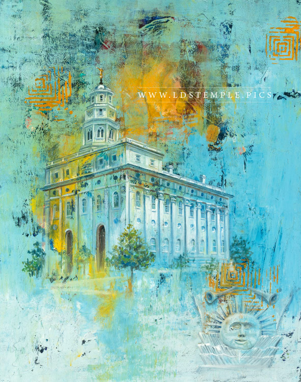 Nauvoo Temple Painting Print