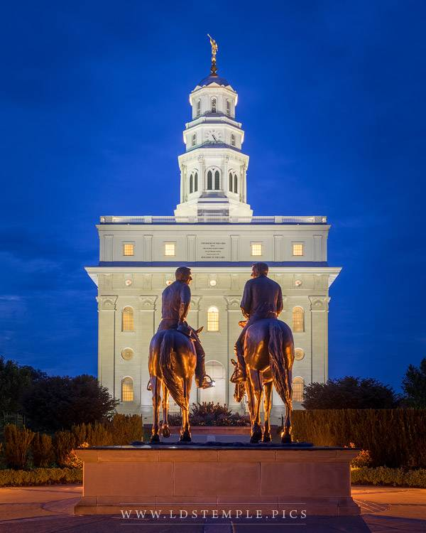 Nauvoo Temple Great In The Eyes Of God Print